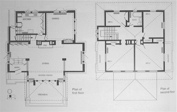 Wright chat view topic prairie style fireproof for Suburban house plans