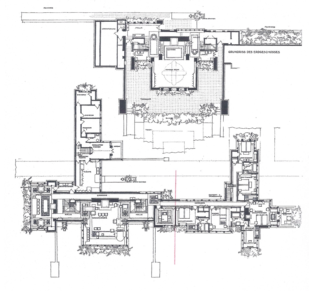F. L. Wright. Coonley House, plan